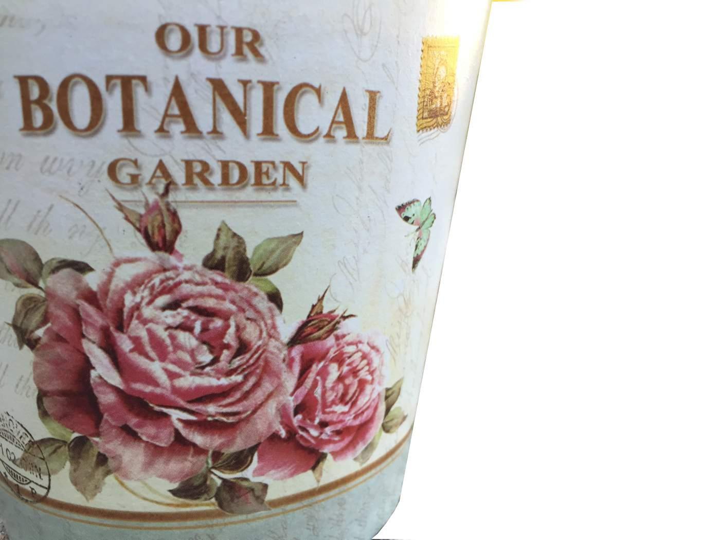 "Műanyag kaspó ""Our Botanical Garden"" felirattal"