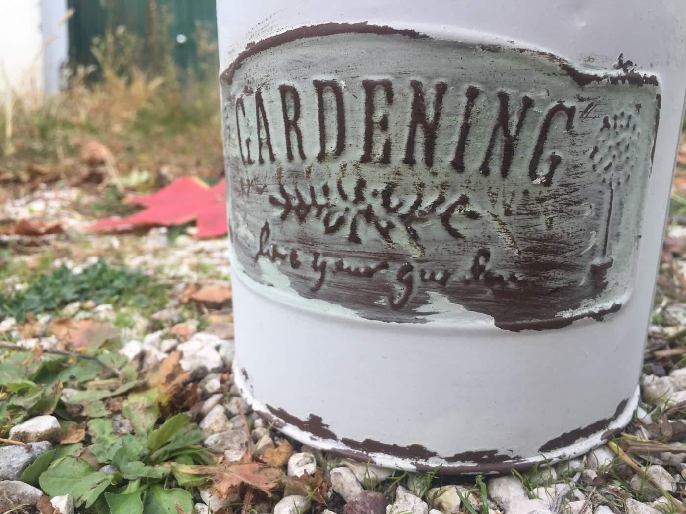 Tejeskanna Kaspó Gardening Felirattal