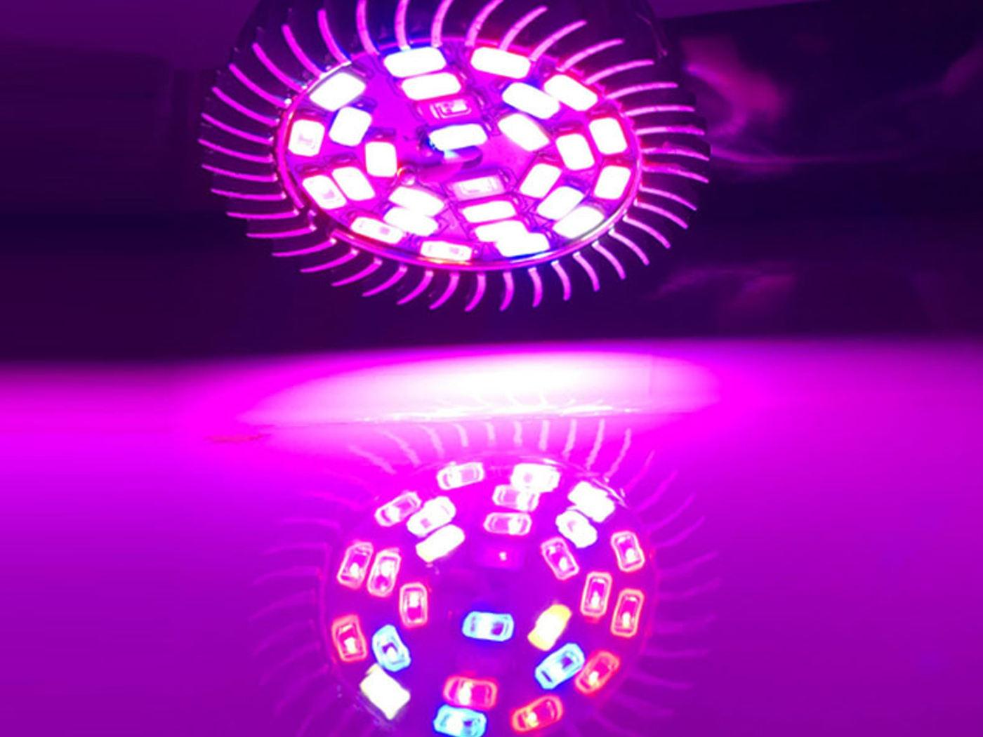 Teljes Spektrumú Növénynevelő LED izzó 28W E27