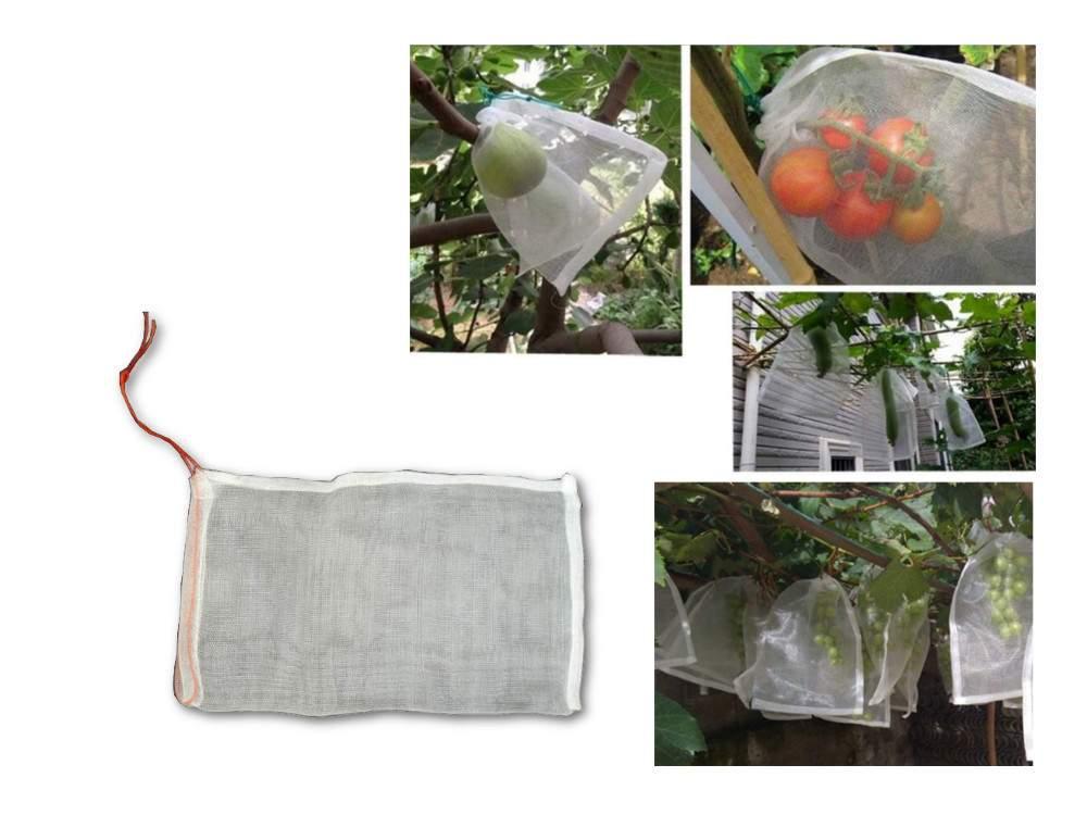 Zsinórral zárható termésvédő háló, 25×15 cm (50db)