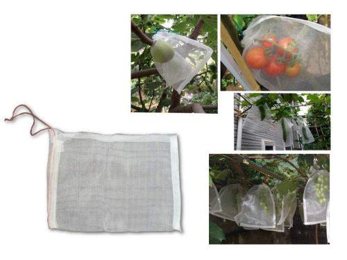 Zsinórral zárható termésvédő háló, 30×20 cm (50db)