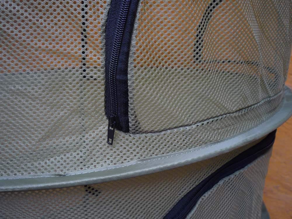 Gyógynövényszárító háló, összecsukható, 6 rekeszes, cipzáros