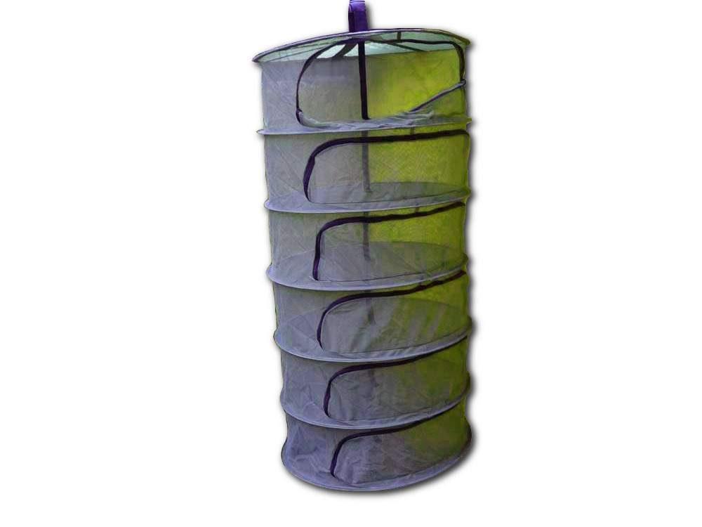 Összecsukható, cipzáras, 6 rekeszes gyógynövényszárító háló
