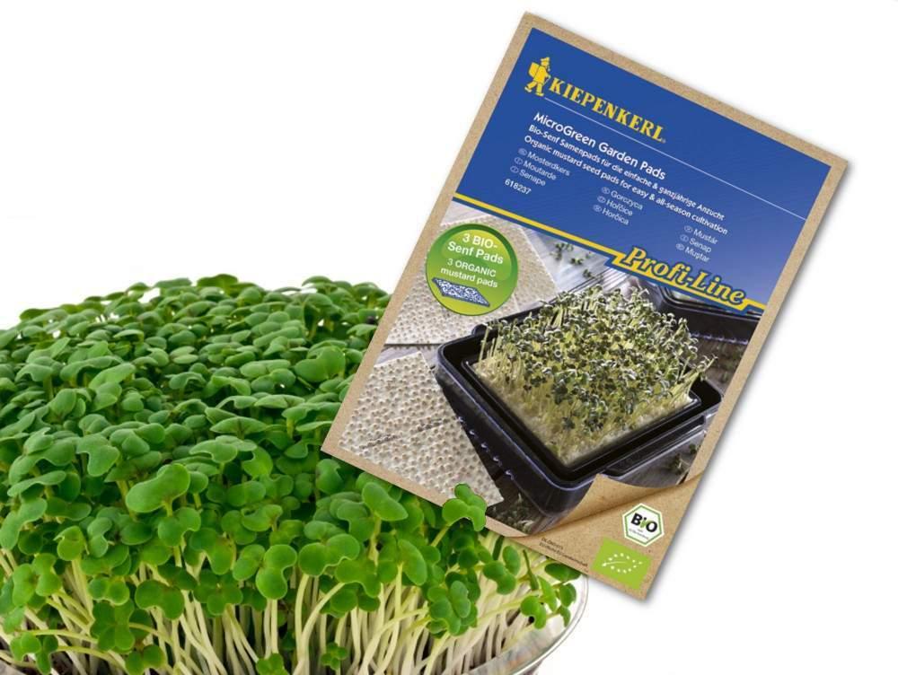 Kiepenkerl bio magpárnák mikrozöldség termesztéshez – Mustár
