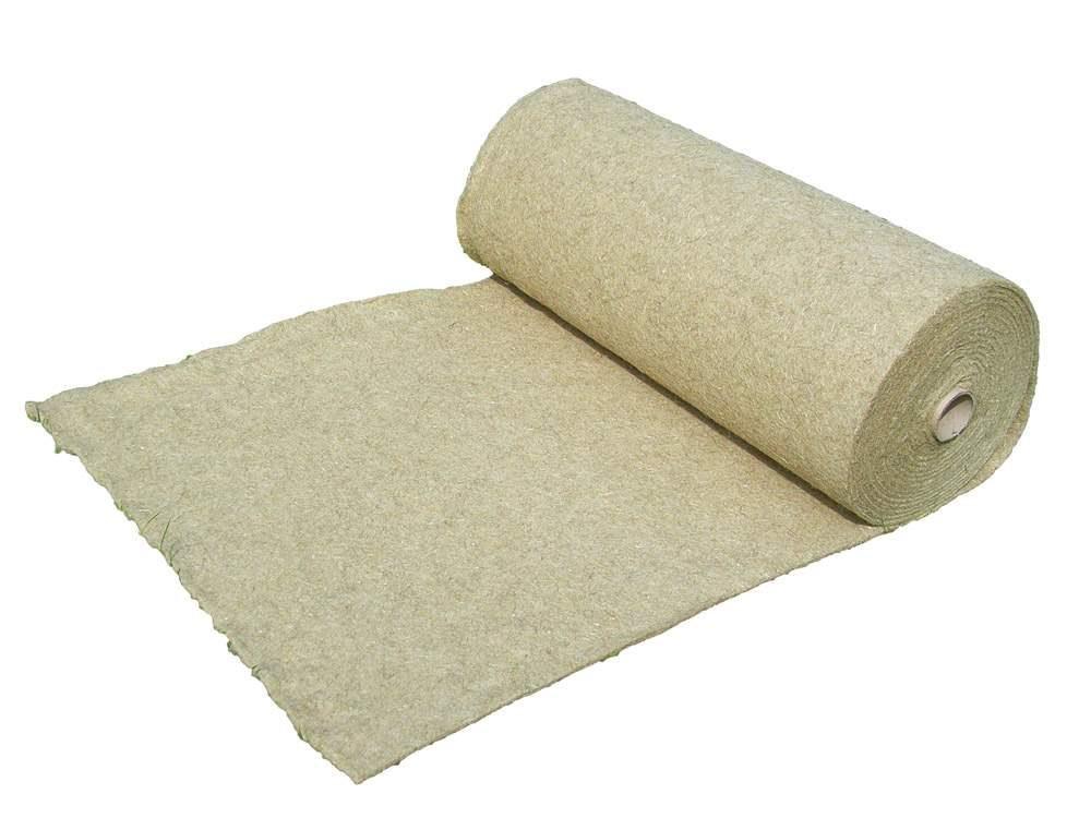 100% kenderrost szőnyeg, 1 m x 15 m, 1 cm vastag