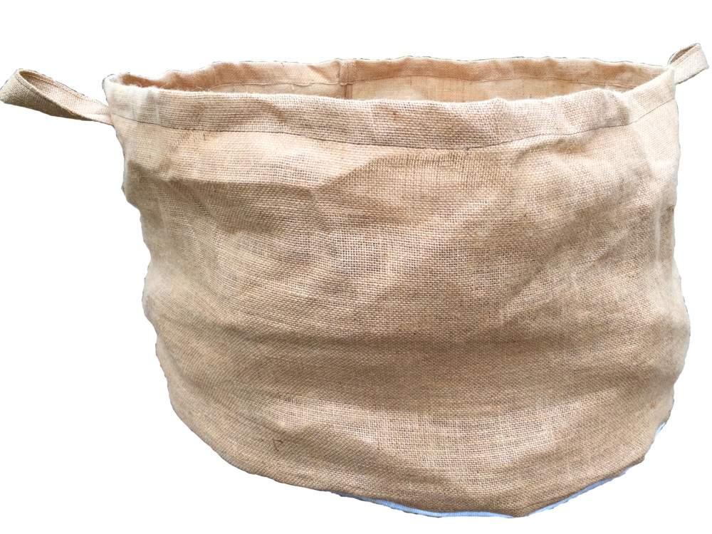 Öko növénytermesztő zsák jutából, 45 cm magas, 70 cm átmérő
