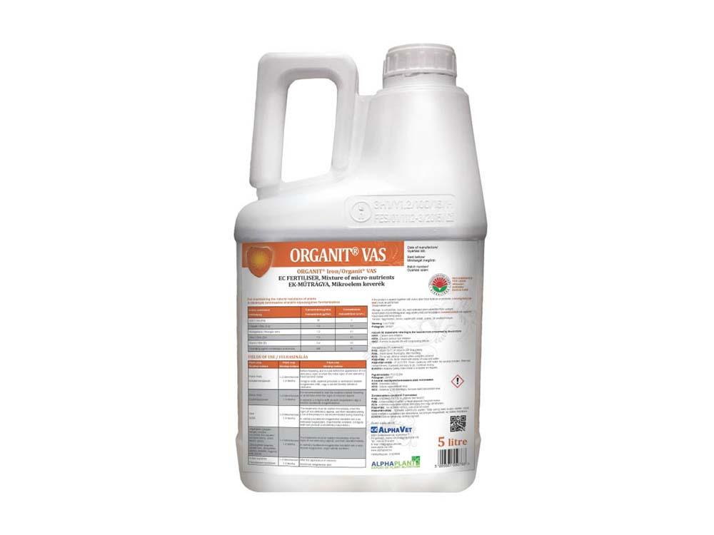Organit Vas lombtrágya - 5 liter