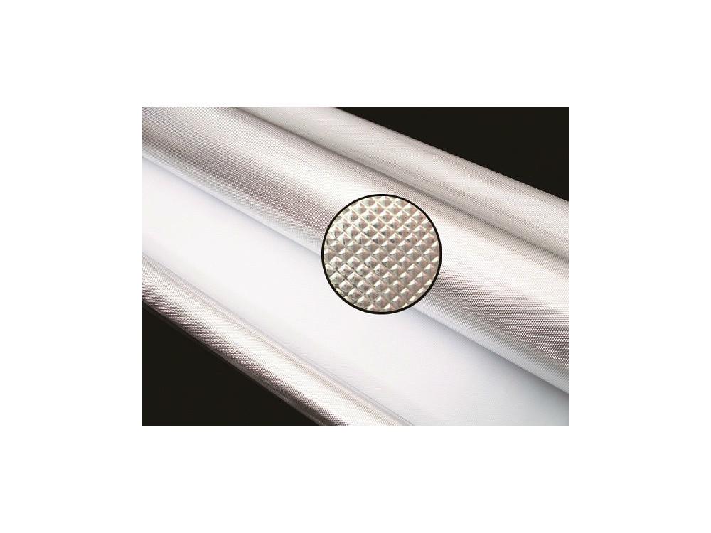 Gyémánt mintázatú fényvisszaverő (mylar) fólia, 6 mm vastag, 1.2 m x 3 m