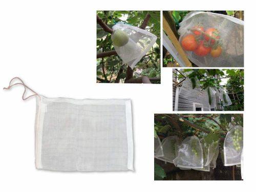 Zsinórral zárható termésvédő háló, 30×20 cm
