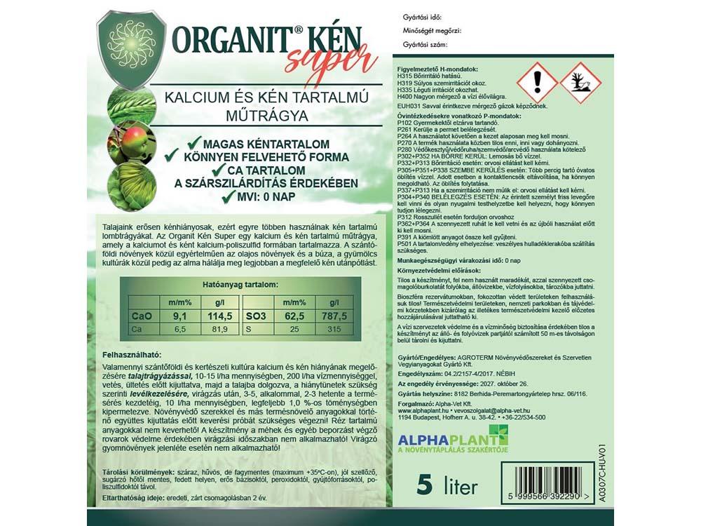 Organit Kén Super lombtrágya - 5 liter