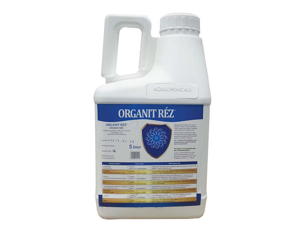 Organit Réz lombtrágya - 5 liter