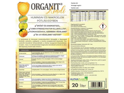 Organit Kondi növénykondícionáló készítmény – 20 liter