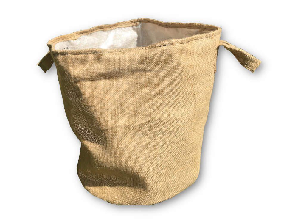 Juta-PP növénytermesztő zsák 45 cm magas 40 cm átmérő juta fül