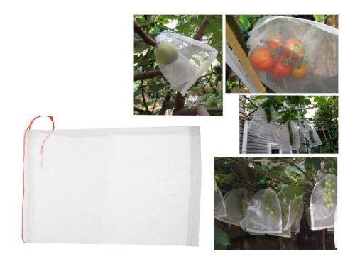 Zsinórral zárható termésvédő háló, 45×30 cm
